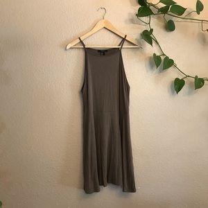 Forever 21 Olive Halter Dress
